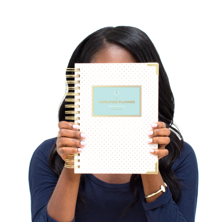 Daily Simplfied Planner Gold Dot